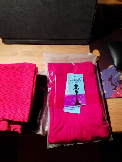 戈登路秋衣秋裤女士单件莫代尔薄款高腰塑身美体裤加大码提臀修身打底裤紧身保暖棉毛裤衬裤 紫色 1.9尺-2.6尺 晒单图