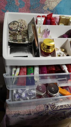 康维佳 抽屉式透明化妆品收纳盒 塑料收纳箱 桌面整理盒 梳妆台护肤品置物架 彩色款 晒单图