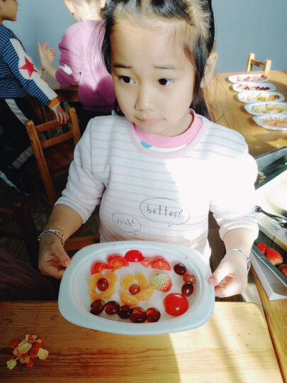 Edo  一次性纸盘约9英寸23cm 椭圆形碟子餐碟30只装 小号鱼盘餐具量贩装ST0009 晒单图