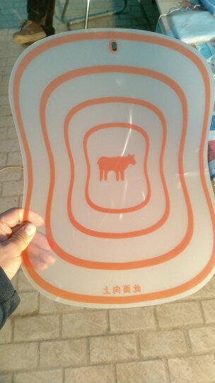 哈德乐 树脂磨砂分类切菜板 防滑水果切板揉面板 厨房分类菜板砧板 大号款(41*34)cm颜色随机 推荐 晒单图
