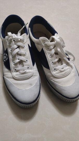 回力WARRIOR 经典款男女款足球鞋帆布鞋胶订软底耐磨防滑草地平地训练鞋 F1白色 39码/偏大一码 晒单图