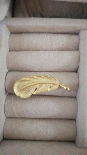 那吾克热同款周生生 黄金吊坠足金爱情密语羽毛吊坠 不含黄金项链 86820P 计价 4.57克(含工费150元) 晒单图