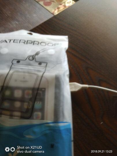信天游 手机防水袋密封袋潜水套5寸6寸内小米oppo苹果手机套 气囊加大黑色 6.5寸内 晒单图