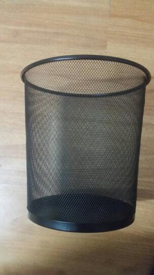 家杰优品 金属丝网垃圾桶办公室居家纸篓中号黑色265mm JJ-105 晒单图