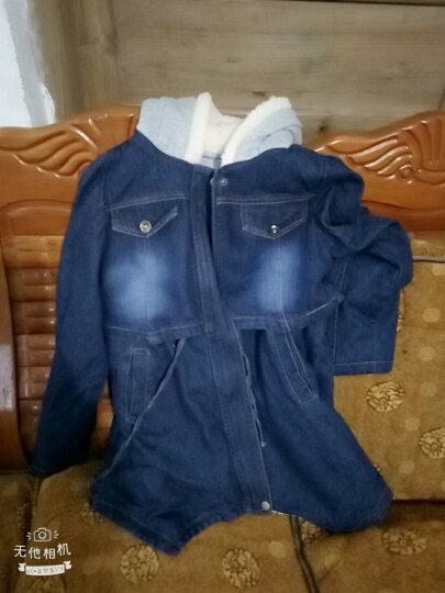 芭咘咘  女童牛仔外套2018春秋新款童装儿童中大童牛仔服上衣 蓝色 130(建议身高120左右) 晒单图