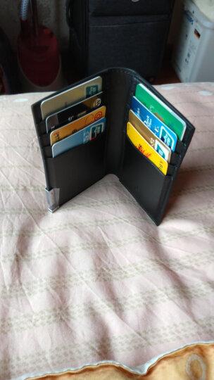MUBREAD卡包男士牛皮迷你8卡位银行卡包韩版超薄名片夹多卡位驾驶证套卡夹卡套 十字纹-黑色 晒单图