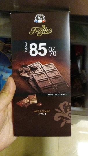 法国进口 德菲丝(Truffes)排块装85%可可黑巧克力 100g 晒单图