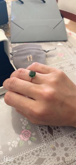 欧采妮珠宝 18K金镶嵌钻石透辉石戒指 彩宝戒指 宝石戒指 18K玫瑰金 (现货闪发) 晒单图