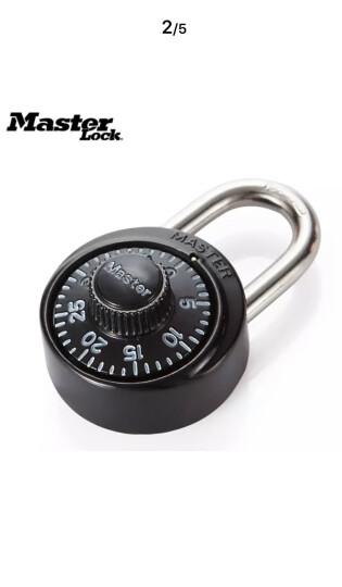 玛斯特(MasterLock)户外旅行箱包密码锁健身房储物柜子学生宿舍大门防盗锁(固定密码) 1533MCND黑色 晒单图