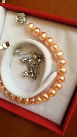 月妃珍珠 粉色淡水珍珠手链 [粉仙] S925银 正圆强光泽 送爱人送女友礼物 17cm 适中 晒单图
