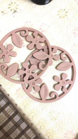 FaSoLa餐桌垫锅垫隔热垫创意硅胶厨房碗垫盘垫家居杯垫 象牙白 晒单图
