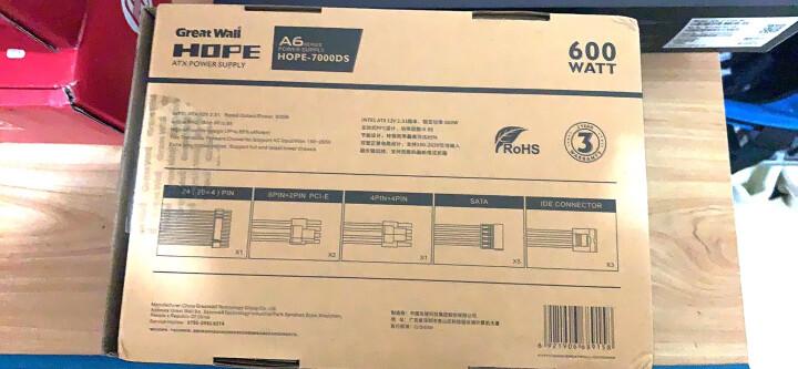 长城(GreatWall)额定475W HOPE-5750DS (背板走线/主动式PFC/12cm静音风扇/宽幅) 晒单图