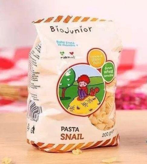 碧欧奇婴幼儿意面小蜗牛意大利进口200g*3 10个月以上宝宝小麦无盐婴幼儿面条辅食 晒单图