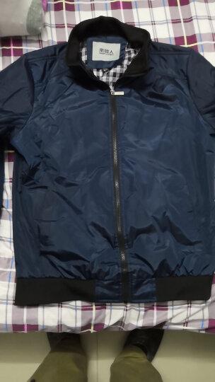南极人夹克男2019春秋季新款外套男士休闲加绒夹克衫男 上衣男装 黑蓝 XL/175适合120到140斤 晒单图