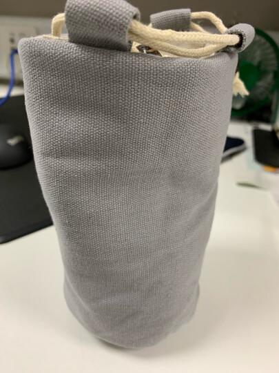 祥业 手工棉麻布袋茶具茶杯束口收纳袋子单茶杯手提旅行布包 浅灰色布包 晒单图