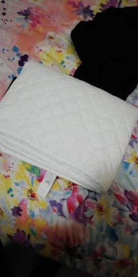 佳佰床垫床褥薄款床护垫可水洗床垫席梦思保护垫 1米床超柔透气舒适菱形格床护垫白色100*200cm 晒单图