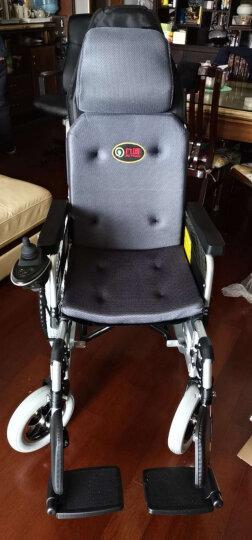 九圆 双人电动轮椅可折叠残疾人老年人自动轮椅电动车左手智能老人代步车轻便可选锂电池可选带坐便 豪华全躺款单人(EABS坡停不溜车) 超威铅酸 晒单图