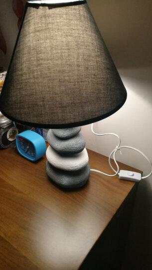 盏爱台灯卧室床头灯创意北欧陶瓷简约现代时尚客厅可爱温馨暖光遥控LED可调光床头灯 大号按钮+黄光三段调光灯泡 晒单图