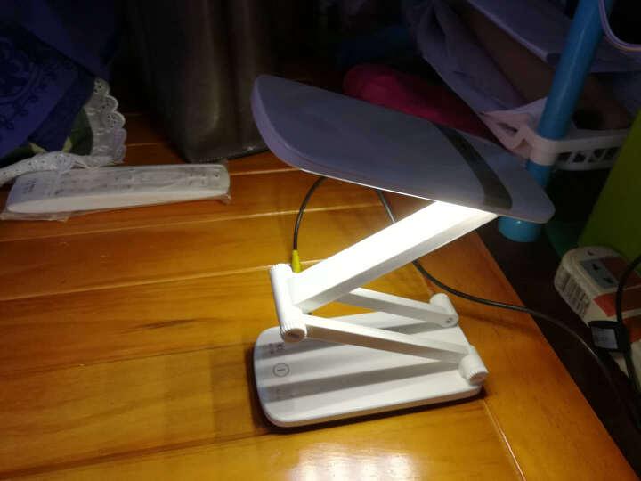 雅格台灯锂电池USB充电式学生护眼灯宿舍折叠式无极调光触摸开关床头卧室台灯照明 冷暖光 YG-5924金色 晒单图