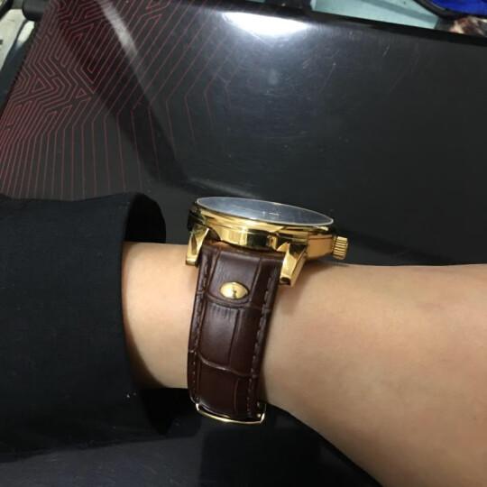 坤格(Kronsegler)手表 迷幻旋舞系列男士手表防水自动机械表 黑盘金壳 KS747.HG间金钢带【爆款】 晒单图