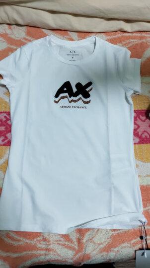 ARMANI EXCHANGE 阿玛尼奢侈品女士针织T恤衫 6YYT80-YJC7Z WHITE-1100 S 晒单图