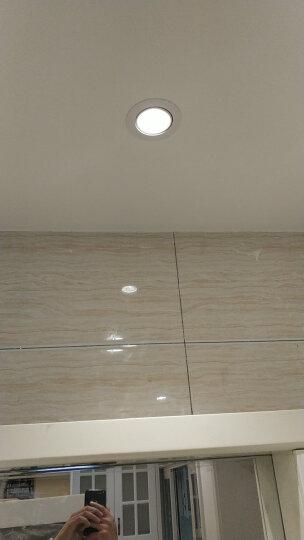 雷士(NVC) 雷士照明射灯 3/5瓦led天花灯 嵌入式牛眼灯全套 装饰灯 3W 漆白 (开孔尺寸7.5-8.5厘米) 暖白光 4000K 晒单图
