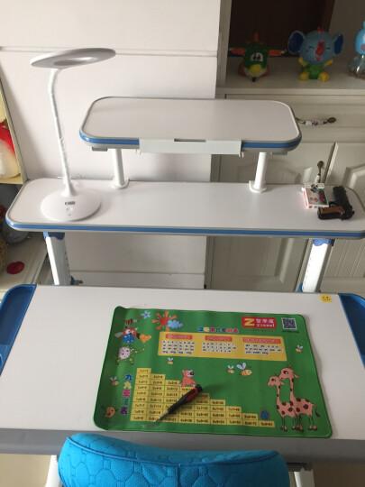 智学库 儿童学习桌椅可升降学习儿童书桌 多功能学生写字桌课桌组合套装 105CM ZZ-105+ZY-02健康绿 晒单图