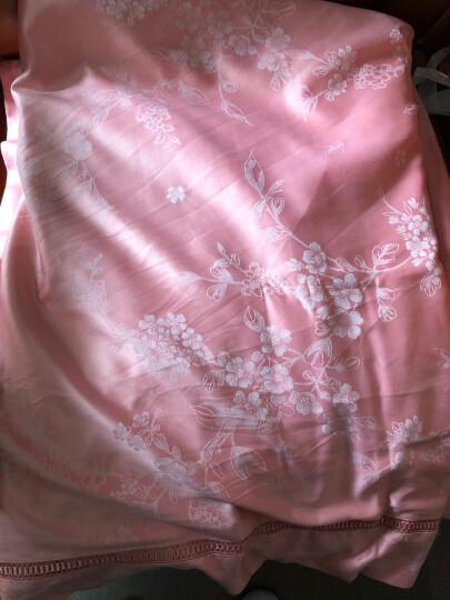 家纺 纯棉四件套全棉床品套件婚庆四件套1.5-1.8米床上用品贡缎提花4件套 花样伊人-芭比粉 1.8米床/适用200*230CM的被芯 晒单图