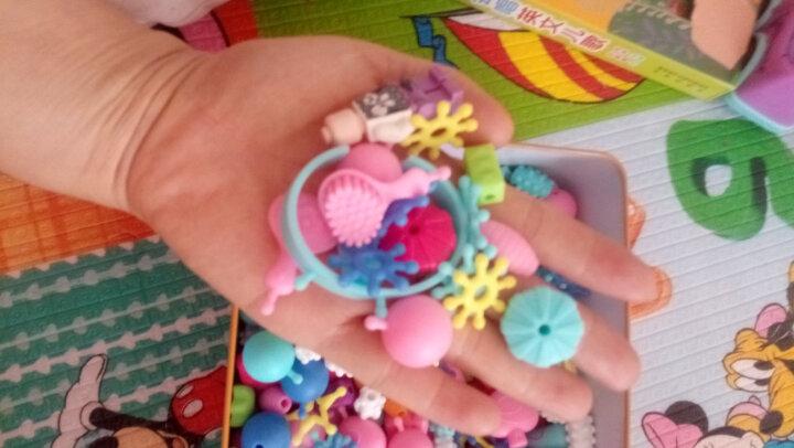 Disney迪士尼玩具女孩串珠手工DIY项链儿童手链串珠过家家串珠机玩具套装 冰雪奇缘串珠-桶装500颗 晒单图