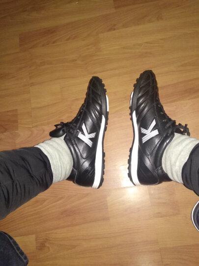 KELME足球鞋碎钉TF男款袋鼠皮人造草地足球训练鞋卡尔美K90 珍珠白色K90 40码 晒单图