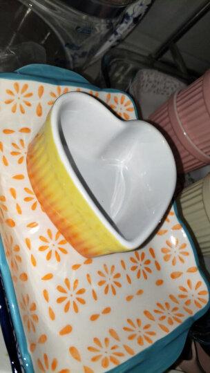 悠米兔yomerto 炖汤盅碗烘焙模具把手烤碗早餐碗杯圆形蒸蛋碗甜品碗家用调料味碟 (484)圆脸带柄烤碗-西瓜浅绿 晒单图
