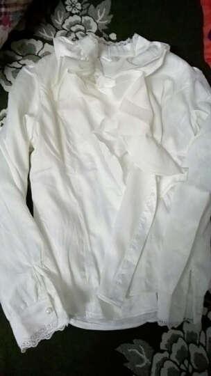 SAMFANKS 衬衫女长袖2019秋冬新款女衬衫长袖职业装加绒韩版时尚休闲大码打底衫衬衣女 白色(加绒) M(95-105斤) 晒单图