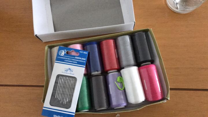 纬度 家用针线盒套装软皮尺缝纫线小剪刀手缝线盒装针线包 12色线一盒送盲人针1包 晒单图