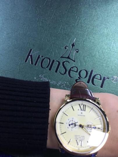 坤格(Kronsegler)德国进口手表 梵蒂冈天文台系列男士手表防水自动机械表 遂空黑 日期显示 KS702A.H【热卖爆款】 晒单图