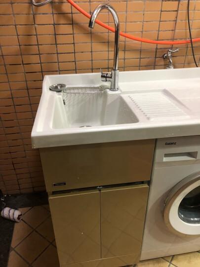 迈勒(MELOWAV)不锈钢洗衣柜浴室柜组合套装洗衣机伴侣阳台洗衣机柜台面带搓衣板M-7102 香槟色 120CM对开门 右盆 晒单图