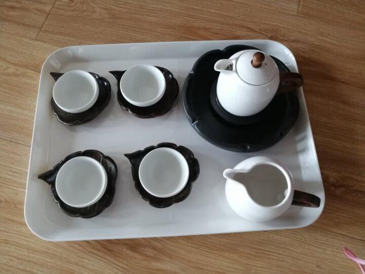 KORDCO 大可餐具密胺托盘酒店托盘茶盘家用放水杯托盘长方形蛋糕面包盘仿瓷白色托盘餐盘 大中小三件套 晒单图