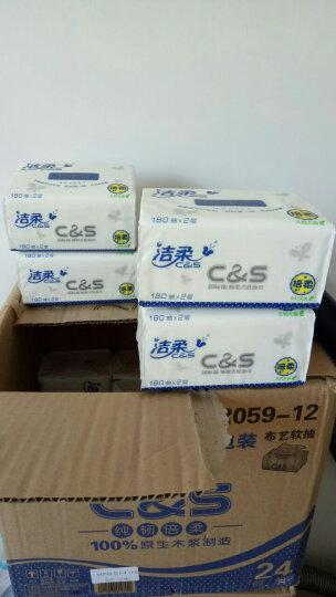 洁柔(C&S)抽纸 纯韧倍柔2层180抽面巾纸*24包(M中号 布艺圆点系列 温和亲肤 整箱销售) 晒单图