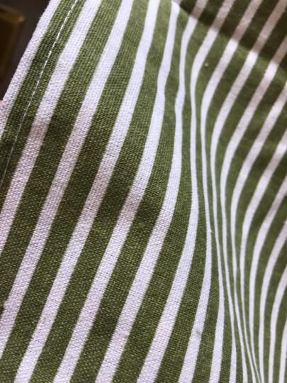 利得韩版时尚棉麻围裙 小熊双层防水围裙 条纹小清新绿 厨房可爱做饭烘焙 晒单图