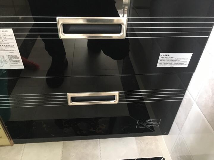 森太(SETIR) F280A消毒柜嵌入式家用厨房消毒碗柜 黑色钢化玻璃轻触按键款 黑色120L大容量钢架款 晒单图