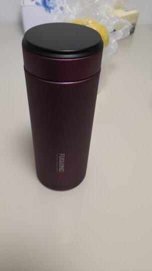 富光 生态泡茶杯FGL-3374紫砂陶瓷内胆300ml不锈钢外壳水杯 玫红陶瓷内胆 晒单图
