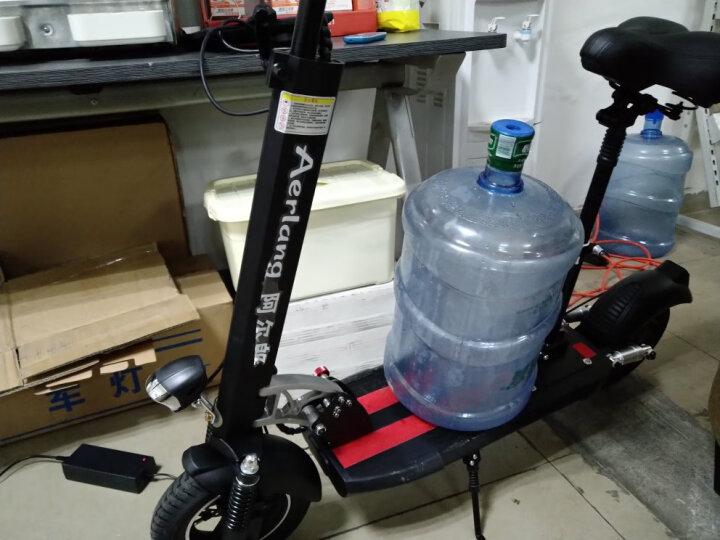 阿尔郎(AERLANG) 阿尔郎 锂电池代驾折叠电动车迷你电动滑板车成人代步车 M1经典黑(续航5-10公里)-14KG轻巧款 晒单图