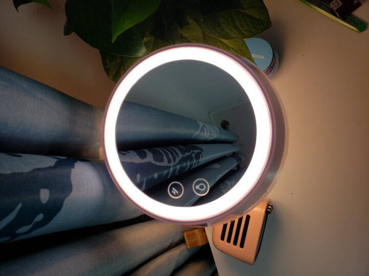 美的(Midea)化妆镜带灯台式 led卧室台灯床头灯 送女友创意节日生日礼物 充电梳妆镜 晒单图