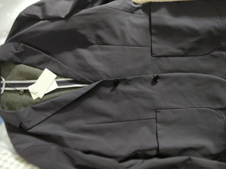 金利来男士舒适抗皱修身合体时尚休闲西装外套 95藏蓝 54A 晒单图