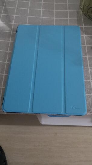 毕亚兹 苹果2018/2017新款iPad平板保护套 防摔休眠三折支架9.7英寸皮套 保护壳 PB13-蓝色 晒单图