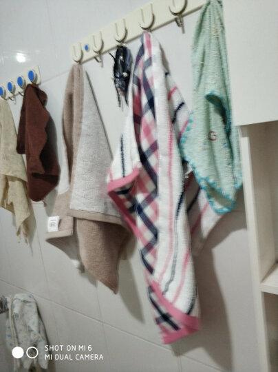 佳佰 毛巾 纯棉格子双层 三条装 三件套 礼袋装 手巾洗脸面巾 (红、蓝、绿各一条) 晒单图