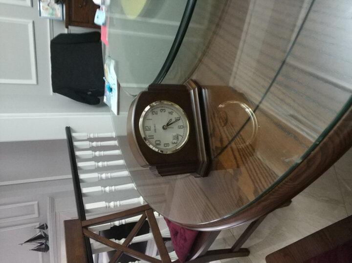 精工(Seiko)时尚创意欧式客厅居家夜光木质座钟台钟 晒单图