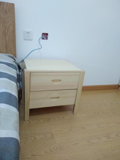 博瑞嘉 实木衣柜松木衣柜两门衣柜两门两抽大衣柜简式衣柜 木质 三门板门衣柜 晒单图