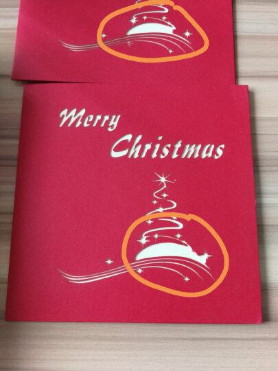 美丽集 创意3D立体纸雕手工折纸型贺卡diy圣诞节祝福礼品 圣诞树 圣诞树 晒单图