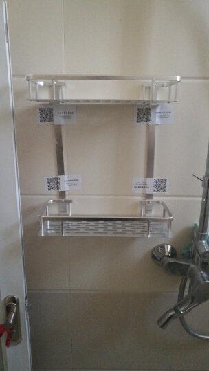 曼达贝亚【免打孔】卫生间置物架 厕所洗手间浴室置物架 洗漱台收纳三角架 壁挂挂件吸壁式 双层方形篮-亮光经典款 晒单图