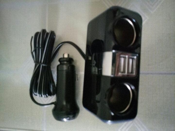 SEIWA 日本车载充电器点烟器USB 汽车车载电源点烟器一拖三 双USB经典蓝光-有线款F253 晒单图